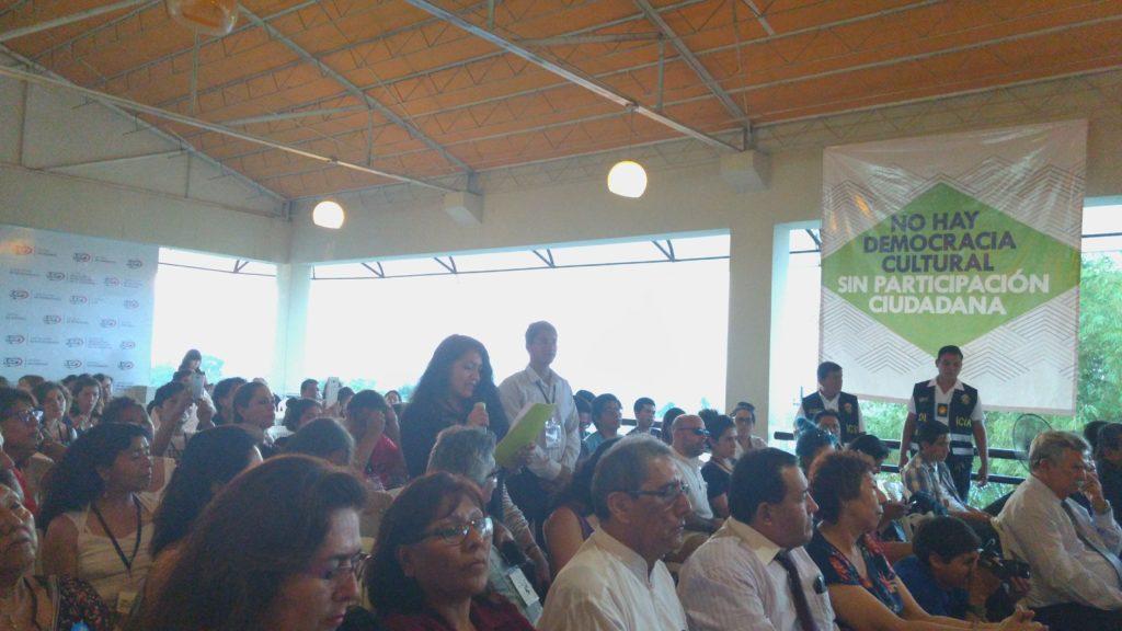 Lanzamiento de la Alianza Peruana de Organizaciones Culturales. Iquitos, 5 agosto de 2017